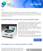 Agar Scientific's July 2016 newsletter