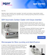 Agar Express - April 2017 - a large chamber carbon coater, additional Meiji microscopes & more