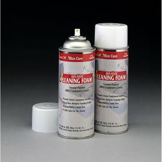 Anti-static cleaning foam