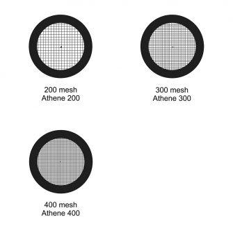 Thin bar TEM grids - Platinised