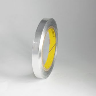 Metallised tapes with adhesive backing