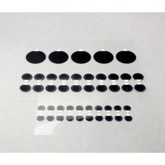 Conductive carbon adhesive tabs - aluminium foil core