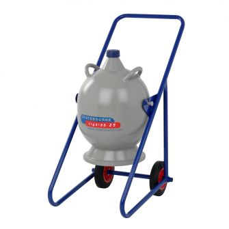Aluminium Dewars - 25 litre with Trolley/Pouring Frame