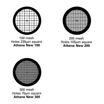 Thick bar/thin bar TEM grids - Copper. 100, 200 & 300 mesh