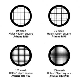 Standard Pattern TEM Grids - Platinised. 50, 75, 150 and 200 mesh.