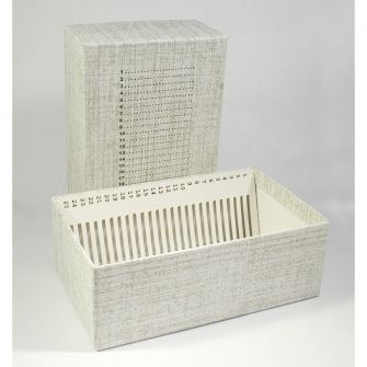 Storage boxes for large 38 x 76mm or 50 x 76mm slides