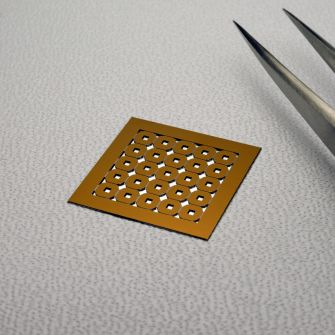 Silicon nitride membranes - 200µm substrate thickness, multi-frame array 2 (5 x 5 array)