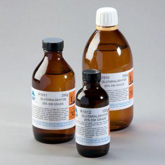 Glutaraldehyde fixative for electron microscopy