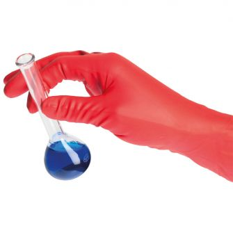 Chem Neo Nitrile 300 Powder Free Gloves (Red)