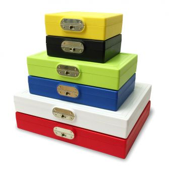 Microscope slide storage boxes, 25, 50 and 100 slide storage.