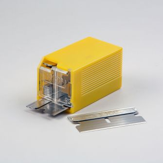 Safety dispenser for 10 single edge razor blades