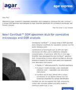 Agar Express December 2017 - introducing our new CorrStub a unique SEM specimen stub for correlative microscopy & more