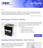 Agar Express February 2019 - New design Ultrasonic Cleaners, the new Aquadag formula and more...