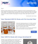 Agar Express April 2018 - new serialised SEM stubs, pre-mounted tabs, Dry Ice Maker & more...