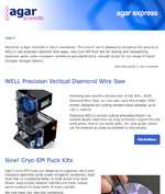 Agar Express - a new diamond wire saw, Cryo-EM pucks, Dewars prices reduced and more...