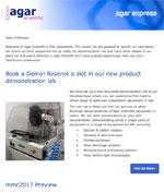 Agar Express May 2017 - we launch our new demo lab, plans for mmc2017 and more...