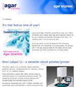 Agar Scientific's December 16 newsletter