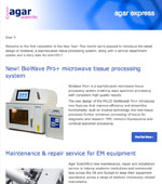 Agar Express - January 2017 - this month, latest design BioWave microwave tissue processing & more...