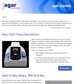 Agar Express November 2018 - Introducing new Microslicers, TEM grid boxes, Dumont Tweezer Boxes & more...