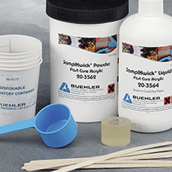 Resin embedding consumables