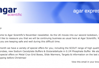 Agar Express November 2020 -  extra discounts this month, new AFM probes and more!
