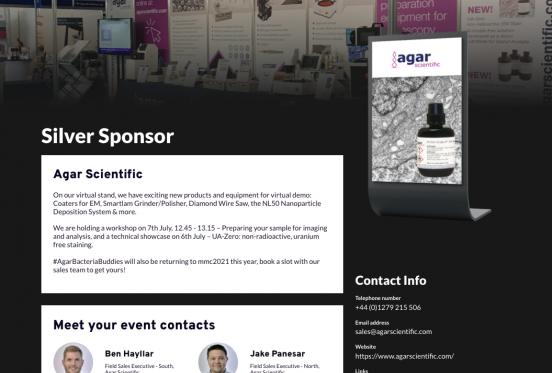 Agar Scientific at mmc2021 - in case you missed it!
