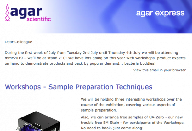 Agar Express June 2019 - MMC2019 – workshops, product experts, bacteria buddies & much more!