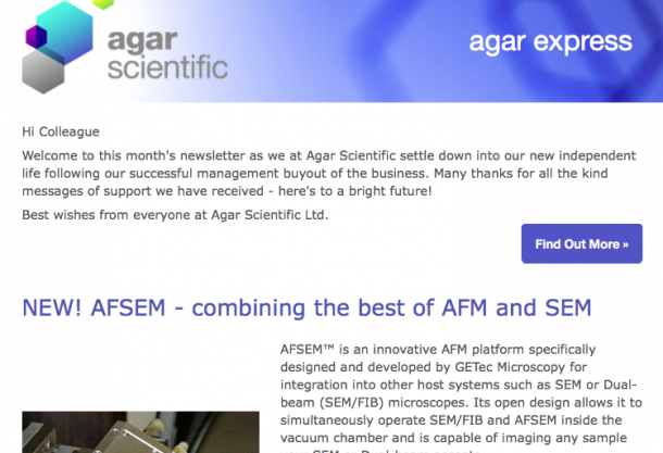 Agar Express June 2016 - introducing AFSEM, combining the best of AFM & SEM and more…